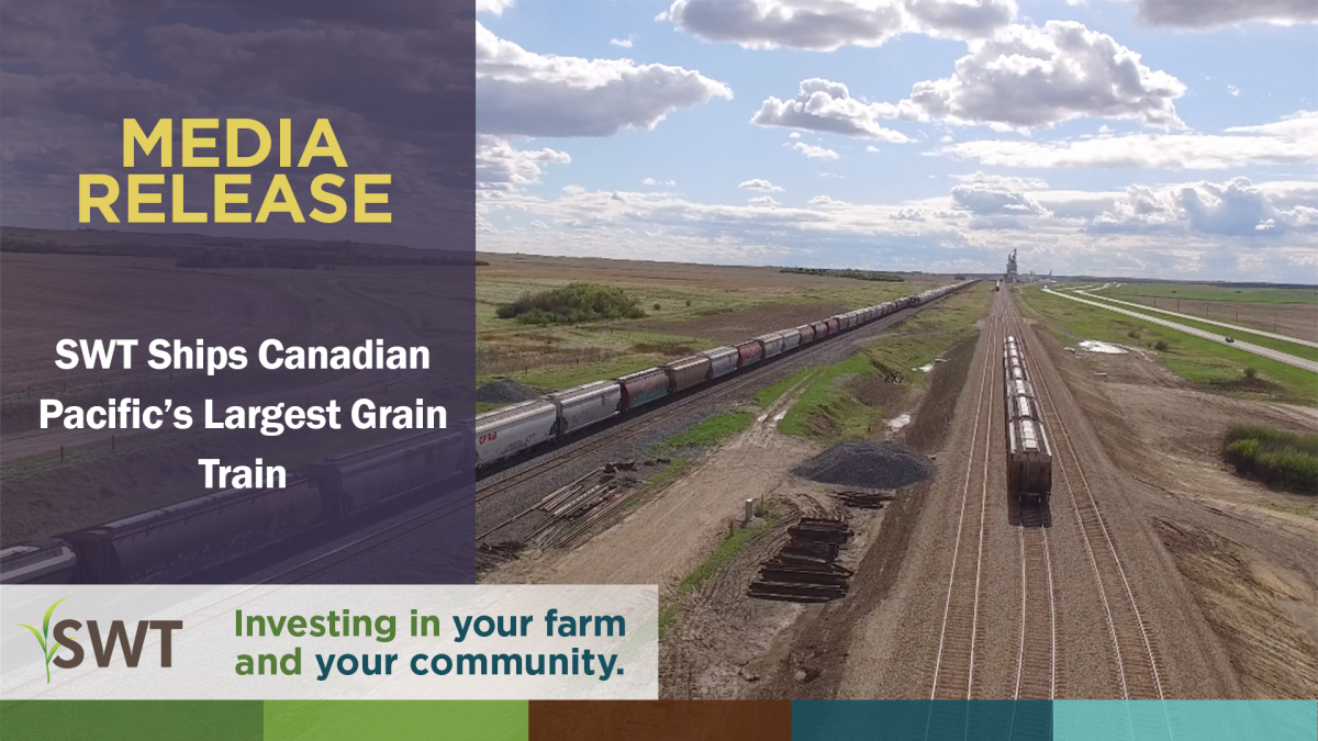 South West Terminal Ships Canadian Pacific's Largest Grain Train from Antelope, SK to Thunder Bay, ONT.